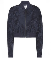 Rosie Assoulin Cropped Jacquard Bomber Jacket