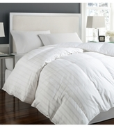 Blue Ridge Tuxedo Damask Stripe Oversize White Down Comforter