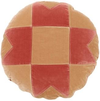 Stella Round Cotton Velvet Pillow