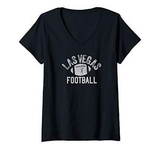 Louis Vuitton Womens Las Vegas Football Vintage Cool football Fan Wear V-Neck T-Shirt