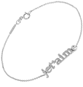 Jennifer Meyer JeT'aime Statement Bracelet - White Gold