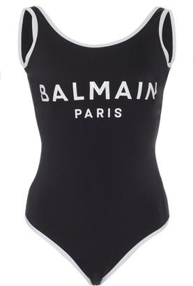 Balmain Logo One-Piece Swimsuit