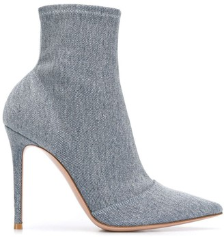 Gianvito Rossi Denim Sock Boots
