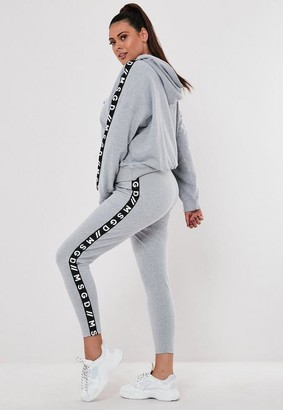Missguided Plus Size Active Gray Co Ord Msgd Lounge Leggings