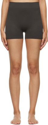 SKIMS Brown Stretch Rib Boy Shorts