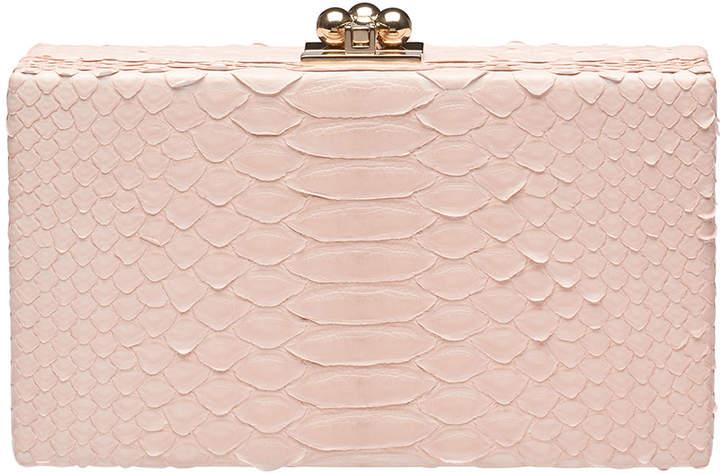 Edie Parker Jean Python Box Clutch Bag