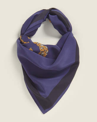 Moschino Printed Silk Square Scarf