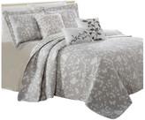 Serenta Birdsong 6-Piece Bed Spread Set, Gray, King
