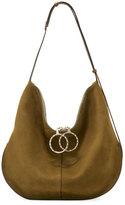 Nina Ricci Kuti Large Nubuck Hobo Bag