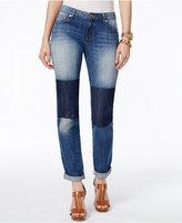 MICHAEL Michael Kors Dillon Patchwork Straight-Leg Jeans