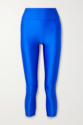 All Access Center Stage Cropped Stretch Leggings - Bright blue