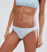 South Beach Gingham Bikini Bottom