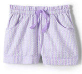 Classic Girls Plus Seersucker Shorts-Frosted Lavender Stripe