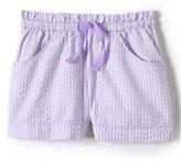 Classic Girls Seersucker Shorts-Frosted Lavender Stripe