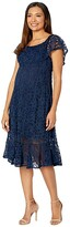 Thumbnail for your product : Nom Maternity Lucia Lace Off-the-Shoulder Dress