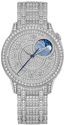 Vacheron Constantin White Gold and Diamond Egerie Moon-Phase Watch 37mm