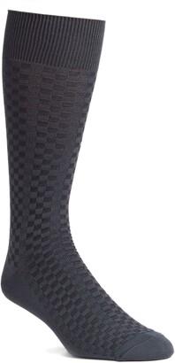 Nordstrom Mini Check Ultrasoft Dress Socks