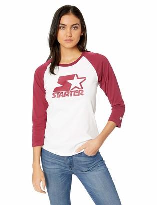 Starter Women's Logo Baseball Tee Amazon Exclusive