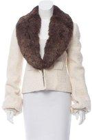 Ya-Ya Ya Ya Fur-Trimmed Tweed Jacket