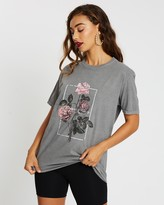 Missguided Vintage Wash Graphic T-Shirt