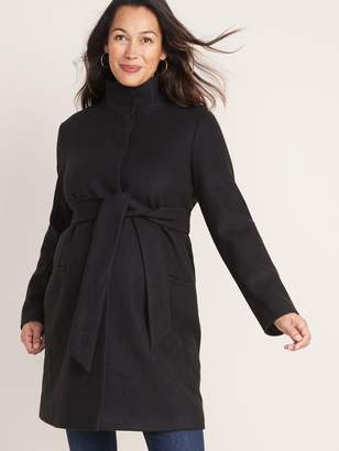 Old Navy Maternity Soft-Brushed Funnel-Neck Coat