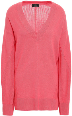Rag & Bone Sabreena Open Knit-paneled Cashmere Sweater