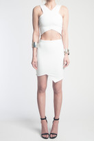 Donna Mizani Cross Over Mini Skirt
