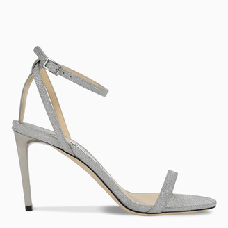 Jimmy Choo Silver Minny 85 sandals