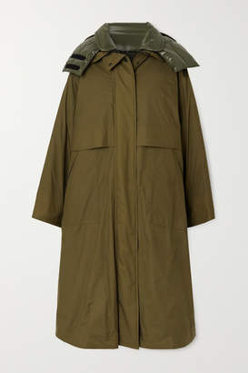 MONCLER GRENOBLE Tervela Reversible Oversized Hooded Down Ski Jacket - Army green