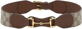 Gucci 40mm Gg Supreme Horsebit Belt
