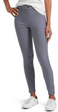 Hue Women's Striped Ultra Soft Denim High Waist Legging