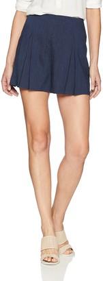 BCBGMAXAZRIA Women's Pinstripe Pleated Short