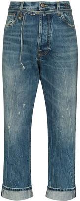 R 13 Paperbag Hayde boyfriend jeans