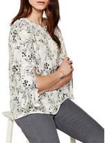 Mint Velvet Rafeal Print Tie Sleeve Blouse, Multi