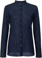 Sophie Theallet perforated manadarin collar shirt - women - Cotton - 6