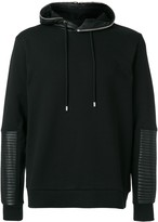 Les Hommes quilted detail hoodie
