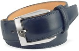 Pakerson Men's Blue Hand Painted Italian Leather Belt