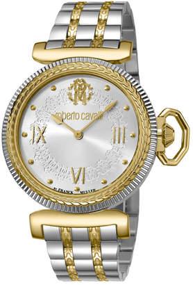 Roberto Cavalli By Franck Muller Women Swiss Quartz Two-Tone Gold Stainless Steel Bracelet Watch, 38mm