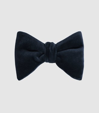 Reiss HIKE VELVET BOW TIE Navy