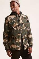 21men 21 MEN Hooded Camo Cargo Shirt