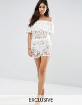 Wolfwhistle Wolf & Whistle Lace Beach Shorts Co-Ord