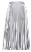 Christopher Kane Embellished Metallic Pleated Skirt