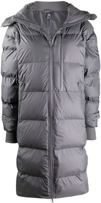 adidas by Stella McCartney Hooded Calf-Length Puffer Jacket