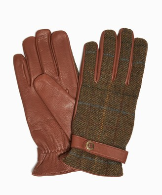 Dents Gloves Dents Muncaster Abraham Moon Tweed & Deerskin Leather Gloves
