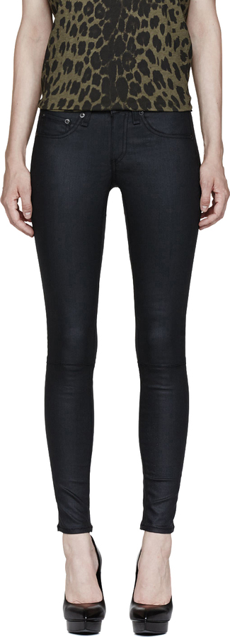 Rag and Bone Rag & Bone Charcoal Grey Devil Lace Up Jeans