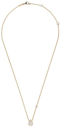 Boucheron 18kt yellow gold Serpent Boheme mother-of-pearl teardrop and diamond XS motif pendant necklace
