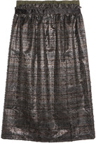Mother of Pearl Frayed lamé skirt