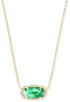 Kendra ScottKendra Scott Elisa Gold Pendant Necklace in Jade Green Illusion