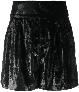 BA&SH High-Rise Velvet Shorts