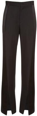 Wool Tuxedo Pants W/ Satin Side Bands